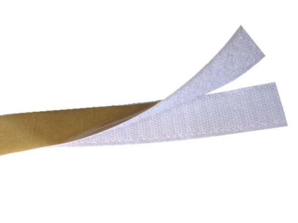 Klettverschluss Tesa weiss 20mmx1m zum Aufkleben 55224-08