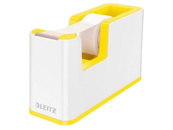 Abroller Leitz Wow weiss und gelb metallic