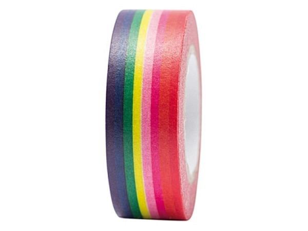 Klebeband PaperPoetry Magical Summer Streifen Regenbogenfarben