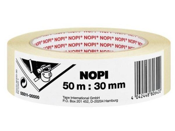 Abdeckband Nopi Malerkrepp 30mmx50m beige