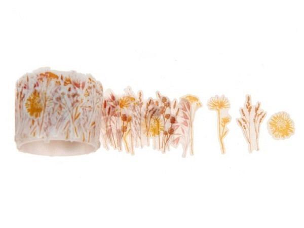 Klebeband PaperPoetry Flower Tape Trockenblumen Gräser, 200 einzelne Washi-Tape-Blüten
