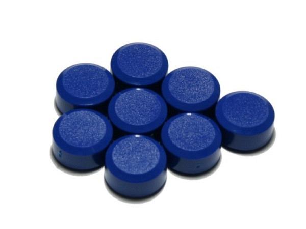Magnet Maul Maulpro rund 15mm Durchmesser blau 8 Stk.