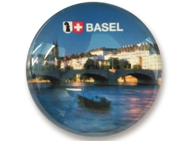 Magnet Basel Glasmagnet rund