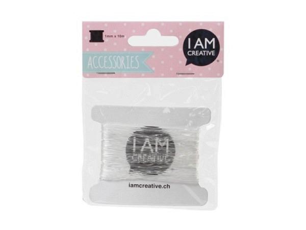 Schnur PaperPoetry Baumwollgarn Gelb/Pink, aus 100% Baumwolle, 15 Meter auf Holzspule aufgespult