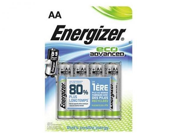 Batterien Energizer Eco Advanced AA 4St 1,5V. Alkalibatterie
