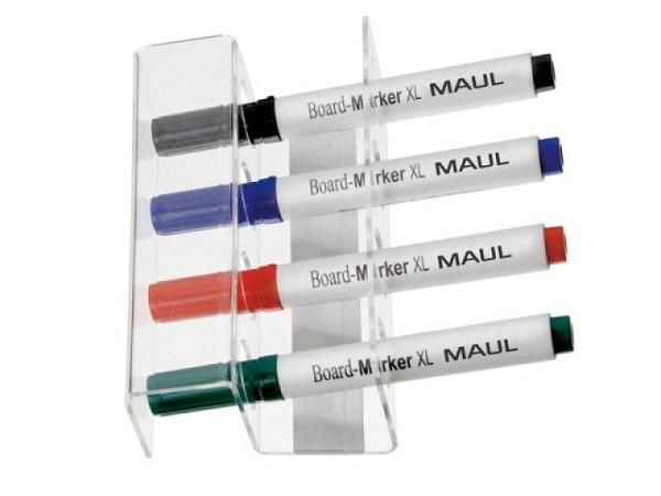 Stifthalter Maul für Whiteboards aus transparentem Acrylglas