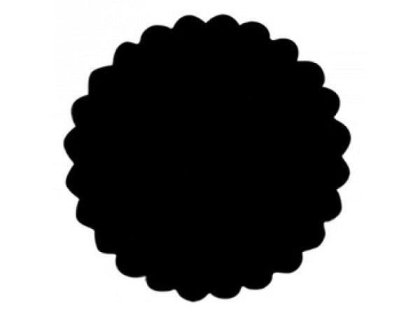 Locher Stanzer 25mm Kreis mit Wellenrand, für Papier bis 220g/qm, weisses Gehäuse