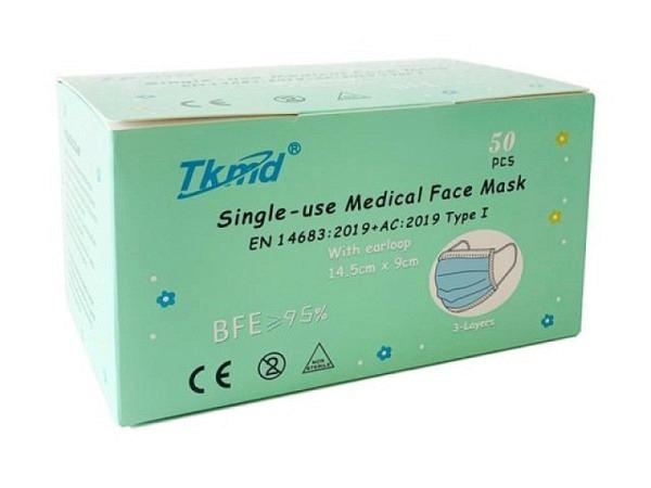 Schutzmaske Tkmd Medical Face Mask Kids 50Stk. Einweg Medizin Hygiene Maske
