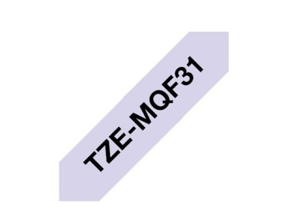 Beschriftungsband Brother P-Touch TZe 12mm breit, schwarz auf pastellviolett