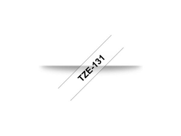 Beschriftungsband Brother P-Touch TZe 12 schwarz auf transp