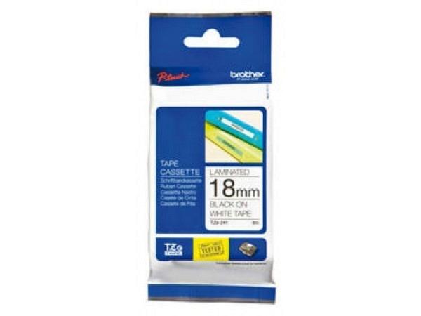 P-Touch TZe 18mm schwarz auf weiss TZe 241