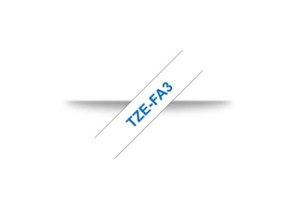 Beschriftungsband Brother P-Touch TZe 12mm blau auf w Tze
