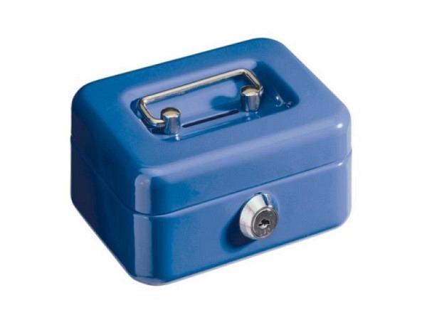 Geldkassette Alco 12x10x6cm blau