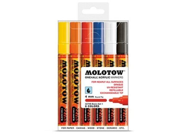 Filzstift Molotow One4all 227HS 6er Set Basic 1, 4mm
