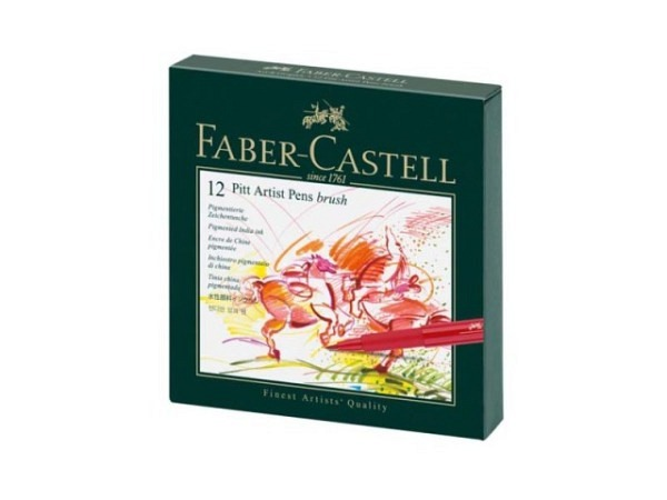 Filzstift Faber-Castell Pitt Artist Pen B 12er Studiobox