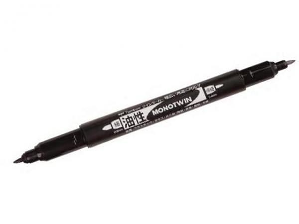 Filzstift Tombow Monotwin permanent schwarz