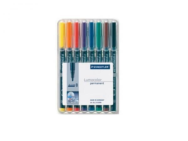 Filzstift Staedtler Lumocolor B permanent 8er-Set