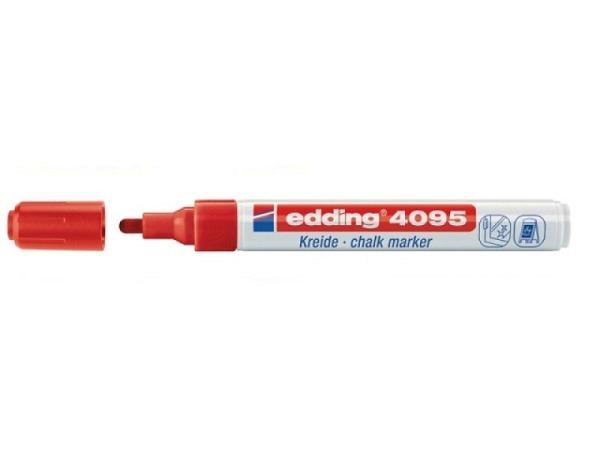 Filzstift Edding 4095 Kreidemarker rot, Window Marker, schnelltrocknend, lichtbeständig, wasserfest,