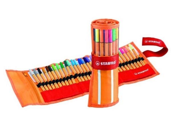 Filzstift Stabilo Point 88 Set 30er mit orange-weissem Etui