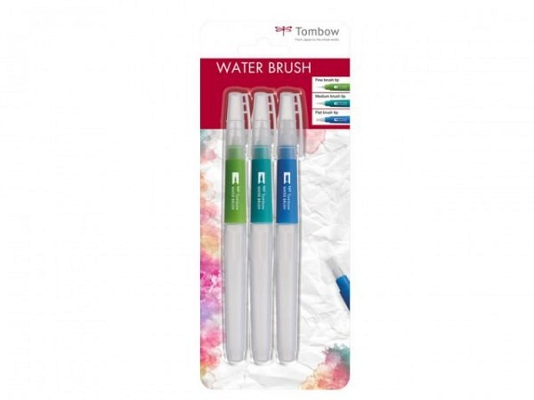 Filzstift Tombow Water Brush mit Wassertank 3er Set