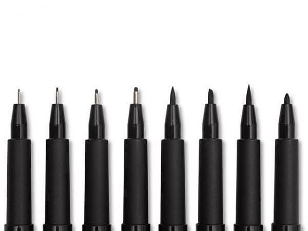 Filzstift Faber-Castell Pitt Artist Pen 8er Set Black