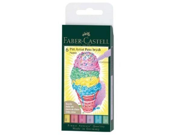 Filzstift Faber-Castell Pitt Artist Pen B 6er Set Pastell