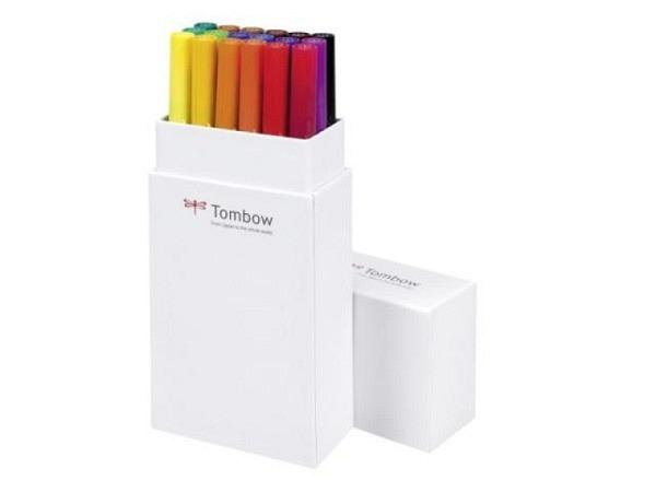 Filzstift Tombow ABT Dual Brush Pen Set 18er Grundtöne 1