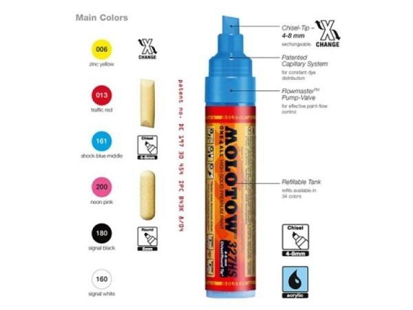 Filzstift Molotow One4all 327HS neon pink 200