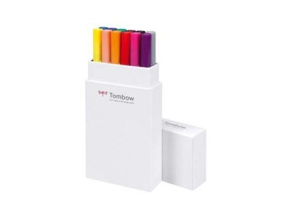Filzstift Tombow ABT Dual Brush Pen Set 12er Grundtöne