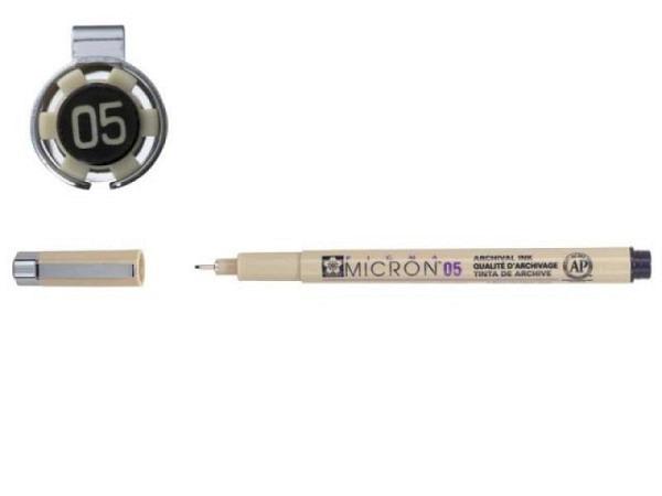Filzstift Sakura Fineliner Pigma Micron 05 0,45mm schwarz