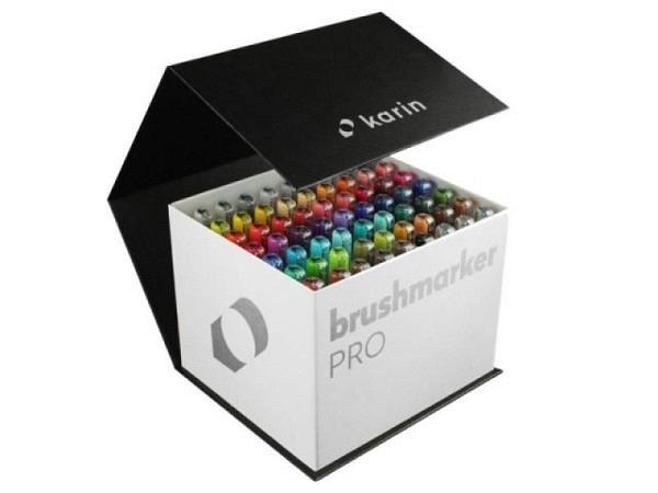 Filzstift Karin Brushmarker Pro 60er Set Mega-Box inkl. 3 Blender