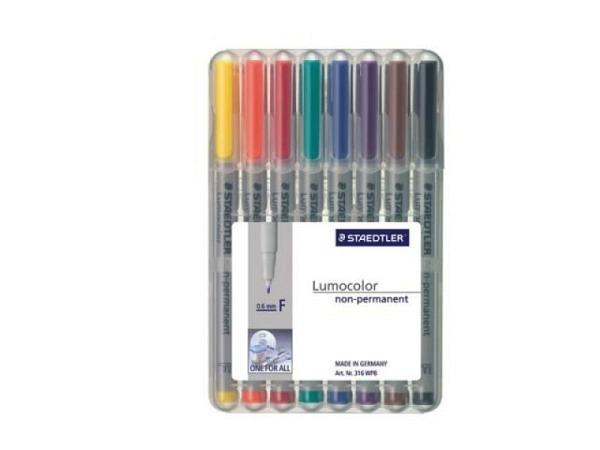 Filzstift Staedtler Lumocolor F non-permanent 8er-Set