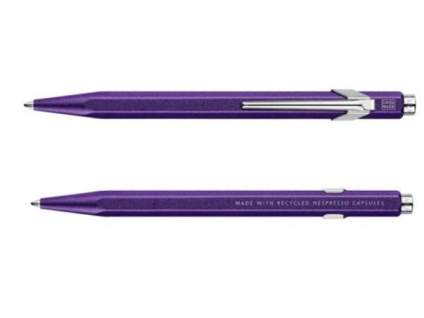 Kugelschreiber Caran d'Ache 849 Nespresso Edition 3 Dunkelviolett Arpeggio
