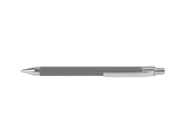 Kugelschreiber Ballograf Rondo grau, blaue Mine