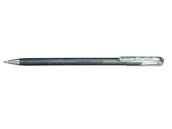 Roller Pentel Hybrid Gel Dual Metallic K110 silber