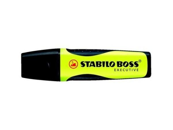 Leuchtstift Stabilo Boss Executive gelb, klassische Form