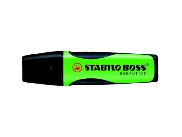 Leuchtstift Stabilo Boss Executive grün, klassische Form
