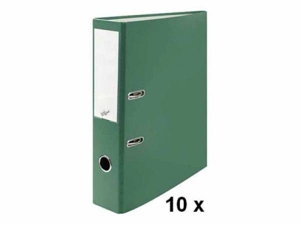 Ordner Büroline A4 2Ring 7cm grün Sparpaket mit 10Stk. in Kartonbox