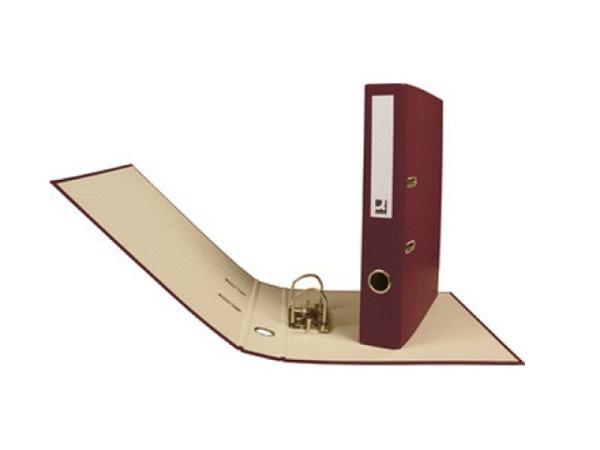 Ordner Connect 4cm weinrot A4, Decke mit farbigem PP-Überzug