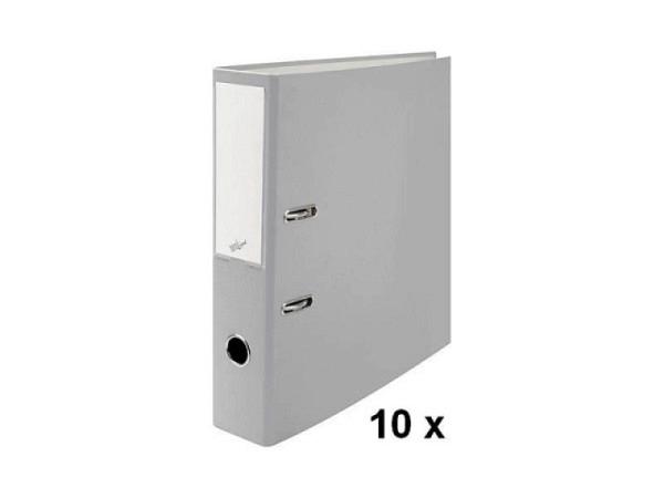 Ordner Büroline A4 2Ring 7cm grau Sparpaket mit 10Stk. in Kartonbox