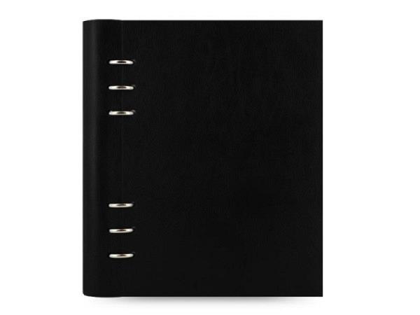 Ringbuch Filofax Clipbook A5 schwarz Kunstleder Softcover