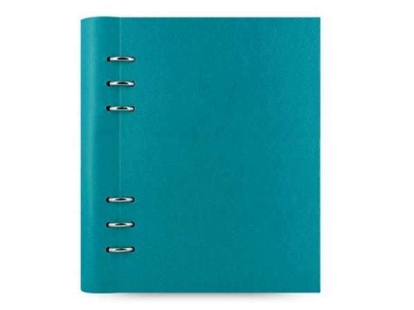 Ringbuch Filofax Clipbook A5 petrol blau Kunstleder Softcov.