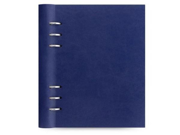 Ringbuch Filofax Clipbook A5 navy blau Kunstleder Softcover