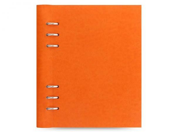 Ringbuch Filofax Clipbook A5 orange Kunstleder Softcover