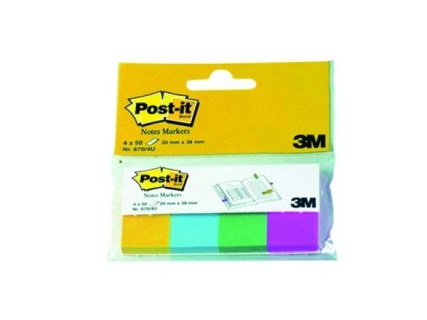Reiter Post-it Index 20x38mm 4Blocks ultra Papier 670/4U