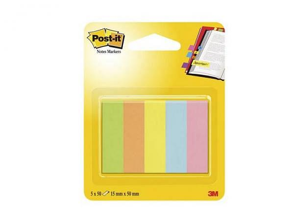 Reiter Post-it Index 15x50mm 5Blocks mit je 50 Streifen, 670/5CA