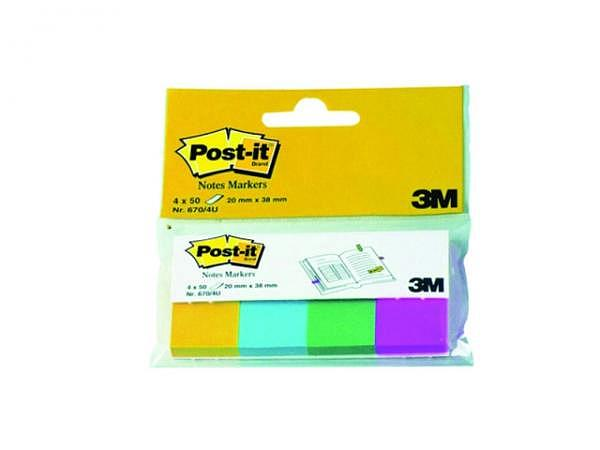 Reiter Post-it Index 20x38mm 4Neonfarben Papier 670/4N