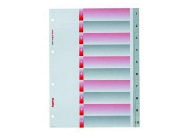 Register Kolma Kunststoff grau Longlife A4 1-10