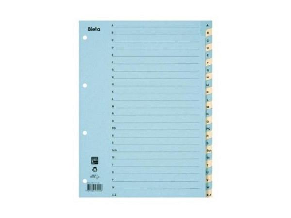 Register Biella Karton gelb/blau A4 A-Z