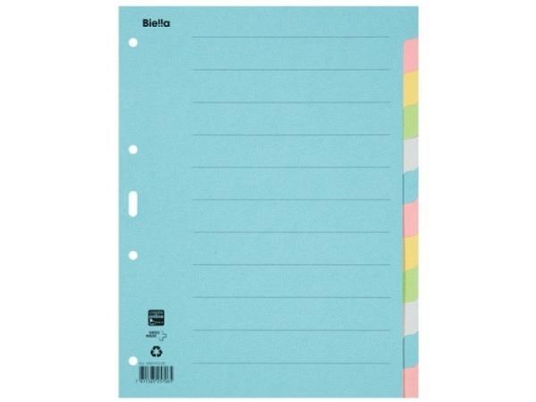 Register Biella Karton farbig 210g/qm A4 12tlg 461412 4-Loch